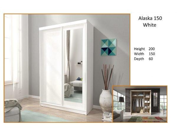 alaska white sliderobe