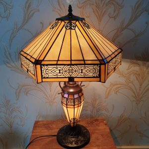 Hex tiffany lamp
