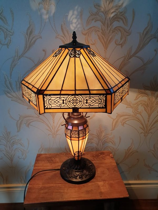 Hex tiffany lamp