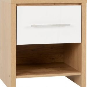 seville 1 drawer locker white