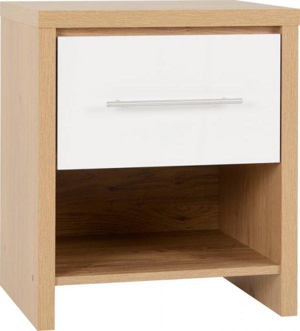 seville 1 drawer locker white