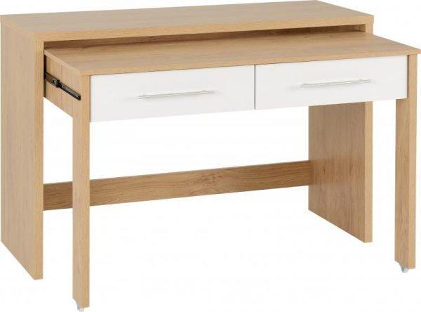 seville 2 drawer sliding desk