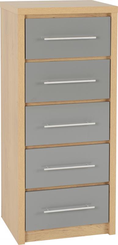 seville narrow 5 drawer